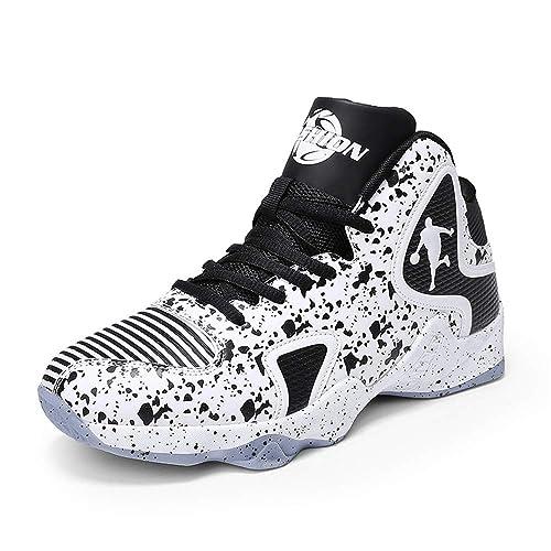 Zapatillas de Baloncesto Modernas para Correr y Correr, (White ...