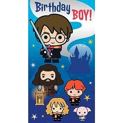 Tarjeta de cumpleaños para niño de Harry Potter: Amazon.es ...