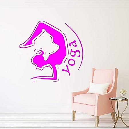 yaoxingfu Yoga Studio Etiqueta de la Pared Dormitorio Yoga Pose ...