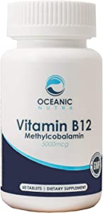 Vitamin B12 Methylcobalamin 5000 mcg for Energy and Metabolism Boost, Maintain Healthy Memory and Focus, Promotes Bone Growth and Brain Health.
