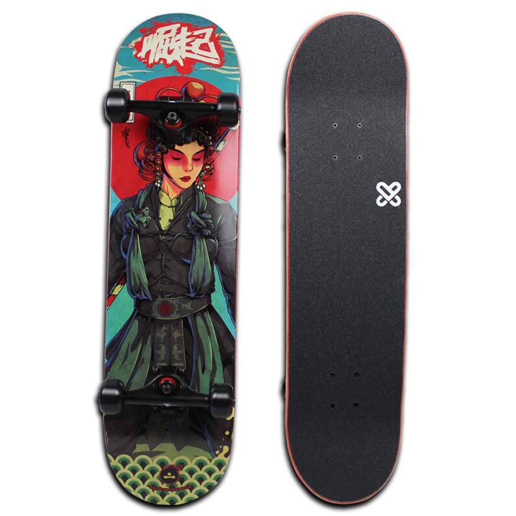 WQQOZ Anfänger Skateboard Skateboard Skateboard Jungen und Mädchen Road Dance Board Allrad Roller 80 × 20 cm Skateboard (Farbe   C) B07QBKMY9K Skateboards Qualität zuerst 1dffeb
