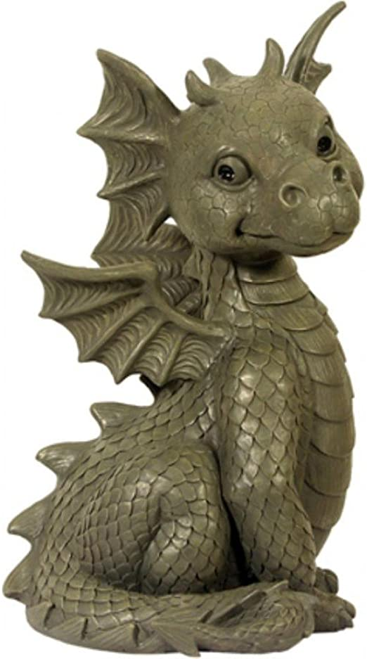 Dragón! Sentado! Jardín del dragón! Figura! La decoración! figura del dragón!: Amazon.es: Jardín
