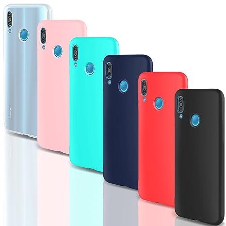 foto ufficiali 19b85 cb33a 6 × Custodia Huawei P20 Lite Cover Silicone , Leathlux Ultra Sottile  Morbido TPU Custodie Protettivo Gomma Gel Cover per Huawei P20 Lite 5.84