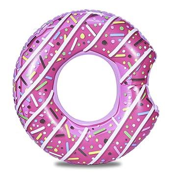 MXECO Anillo de natación Inflable Donut Piscina Gigante Flotador ...