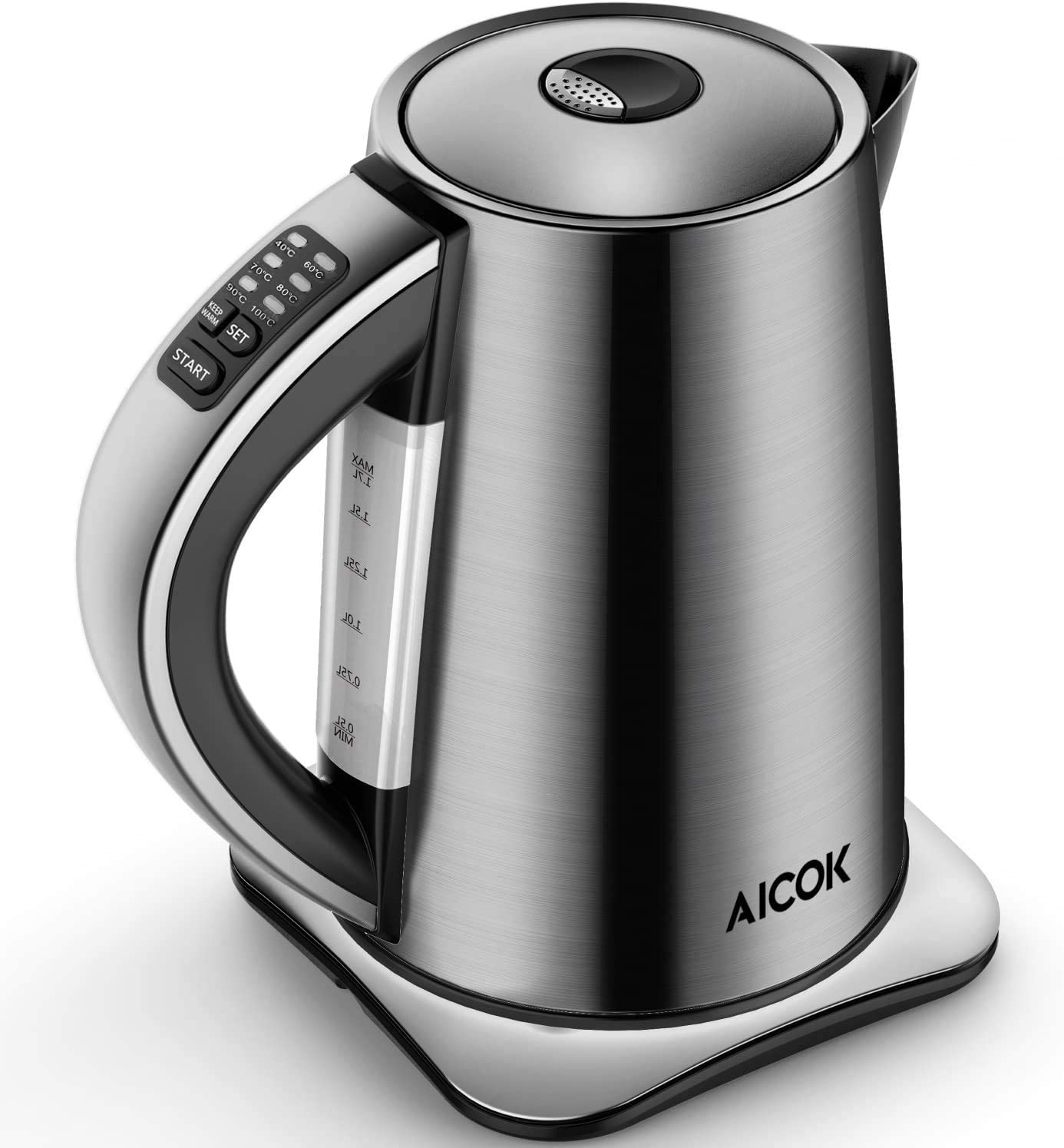 Electric Kettle Temperature Control, AICOK Stainless Steel Tea Kettle with Variable Temp