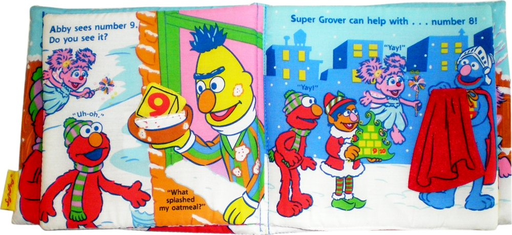 Elmo's Christmas Countdown 8x8 Cloth Book: SoftPlay: 9781592922703 ...