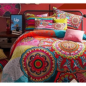 bohemian duvet cover king lelva boho style bedding set boho duvet cover 4856