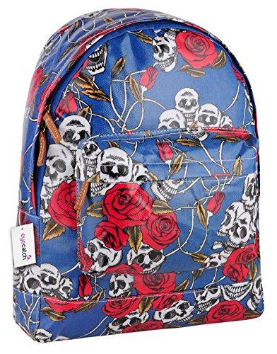 Brand EyeCatch - Sac a dos école tete de mort fleurs - Femme Bleu