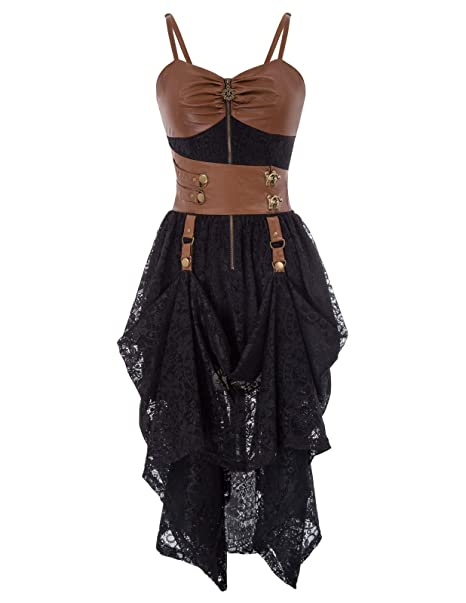 SCARLET DARKNESS Vestido de Mujer Elegante Vestido Medieval ...