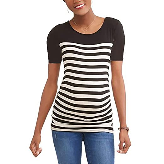 97cde61b789 kaifongfu Loose Pregnant Shirts Women s Long Sleeve V Neck Maternity  Tops(Black ...