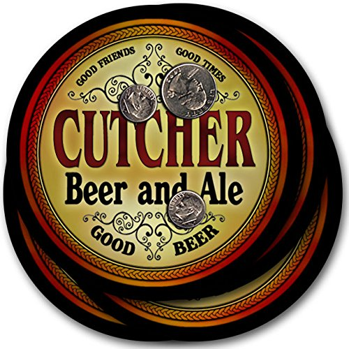 Cutcherビール& Ale – 4パックドリンクコースター   B003QXRI8A