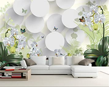 amazon 140x70cm 3d wallpaper clivia ornament tv wall background