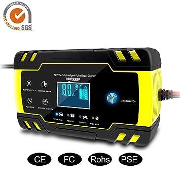 AITOCO Cargador de batería Inteligente UltraSafe 12V / 24V 7,2A Cargador de batería Completamente automático para automóviles, Motocicletas y más ...
