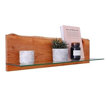 EIN Original BestLoft® Wandregal 100cm Mit Baumkante Aus Holz U0026 Glas  Wandboard Board Regal Steckboard