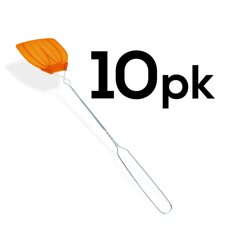 10PK - Metal Handle Hand Fly Swatters by BugKwikZap