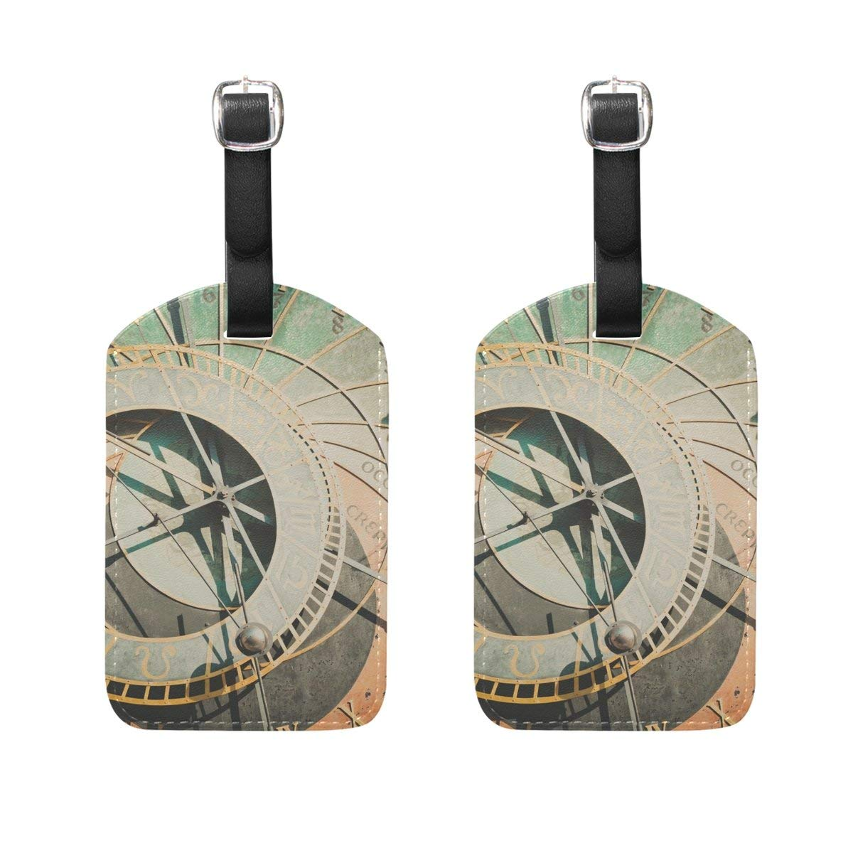 GTdgstdsc Moon Night Pattern Luggage Tags Travel Labels Tag Name Card Holder for Baggage