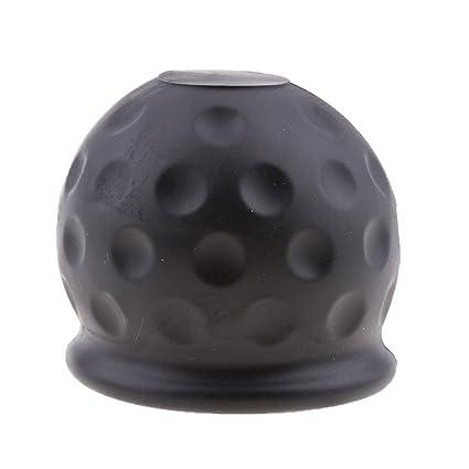 Sharplace Tapa de Protector para Adaptarse Bola de Remolque para Automoviles, Negro 50mm