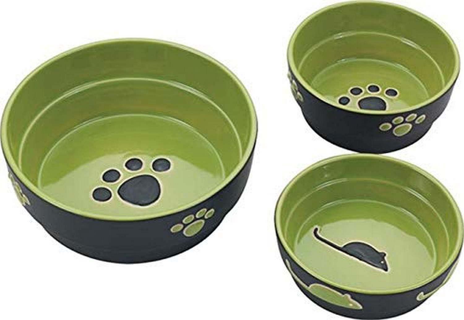 Ethical Pet Products (Spot) DSO6899 Fresco Stoneware Dog Dish, 5-Inch, Green
