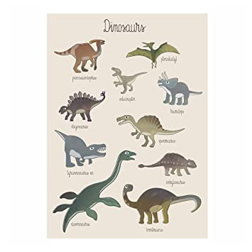 Sebra Poster Plakat Zur Kinderzimmer Deko Dino 50x70 Cm In Beige