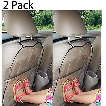 Funda para asiento de coche, de protección para los niños, protege de las manchas de zapatos, del barro, 44 x 57 cm, 2 unidades