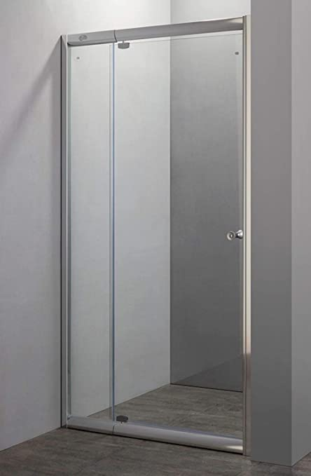 Puerta de pared de la ducha, 1 puerta batiente de cristal H185 ...
