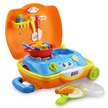 Amazon Com Introductory Sale Little Chef Suitcase Toddler Toys