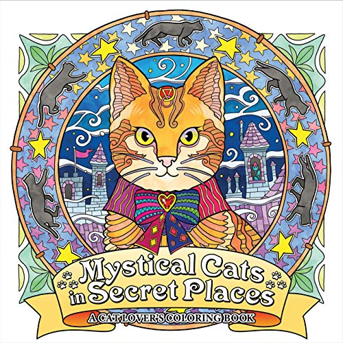10 Inch Square Wave - Mystical Cats in Secret Places: A Cat Lover's Coloring Book