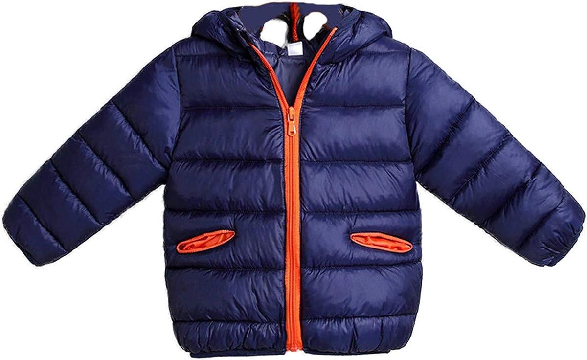 JELEUON Kids Baby Boys Girls Winter Cartoon Hooded Thicken Warm Down Puffer Jacket Outwear
