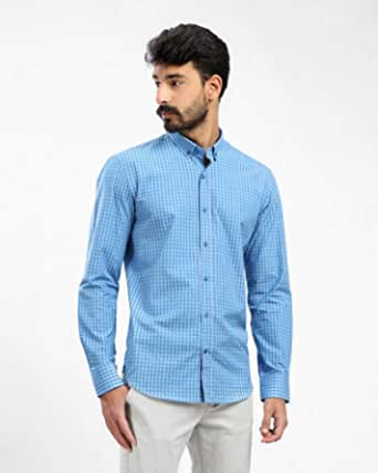 long sleeves men shirt classic fit buttoned