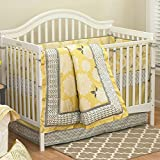 Stella 5 Piece Baby Crib Bedding Set with Bumper by The Peanut Shell
