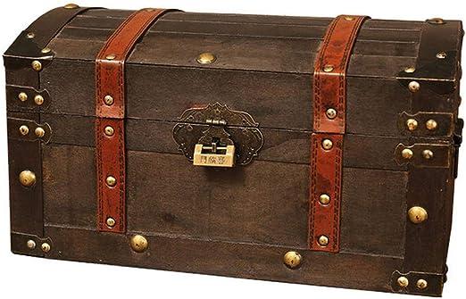 HAOCHIDIAN Caja de joyería de Madera Antigua de la joyería Hecha a ...