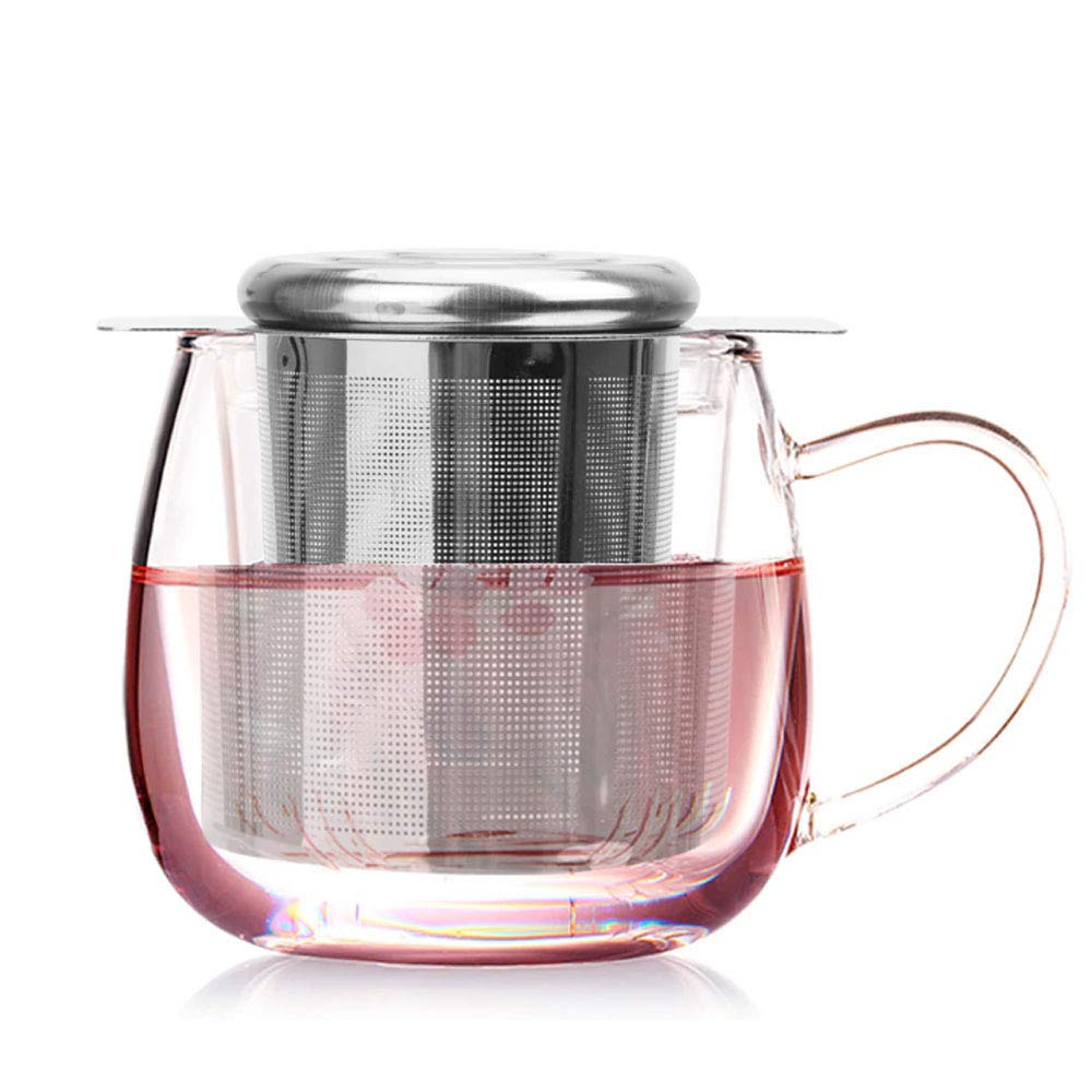 Tea Strainer,Stainless Steel Tea Filter Fine Mesh Tea Infuser for Loose Tea Large Capacity /& Double Handle Design Perfect Hanging on Teapot Cups