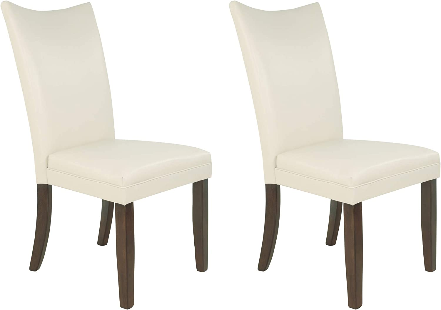 Amazon Com Signature Design By Ashley Charrell Dining Room Chair Ivory Chairs