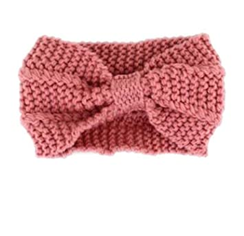 Amazon Women Hairband Crochet Bow Knot Turban Knitted Head