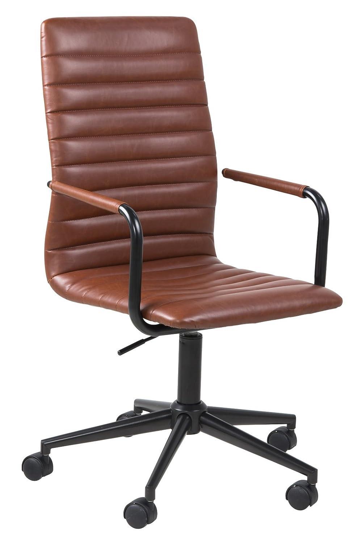 AC Design Furniture Bürostuhl WinifROT, B  45 x T 58 x H  103 cm, PU, Braun