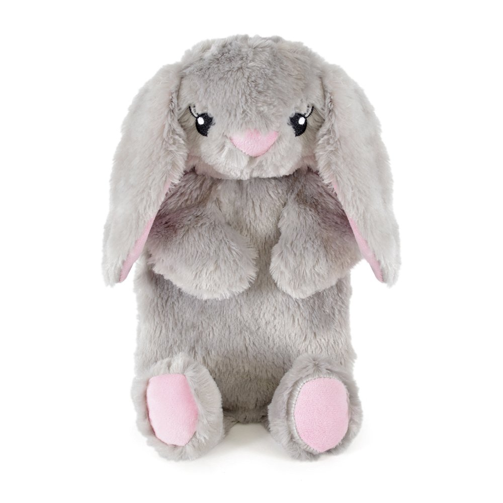 Hot Water Bottle with Novelty Plush Super Soft Cover Premium Natural Rubber 1 Litre Hot Water Bag - Helps Provide Warmth and Comfort (Grey Rabbit) China