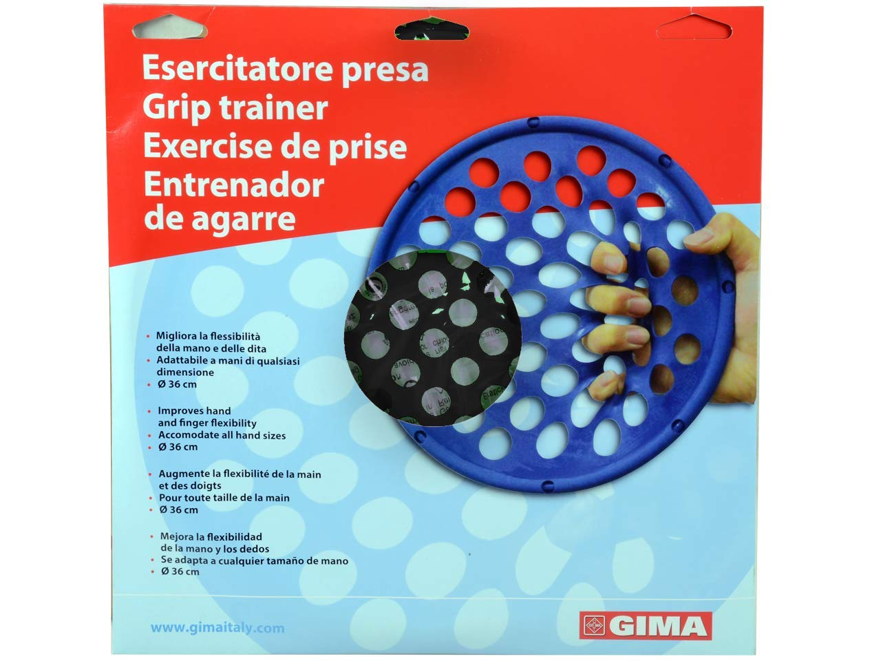 Gima 47134 esercitatore dedos, X-Resistente, Negro: Amazon ...