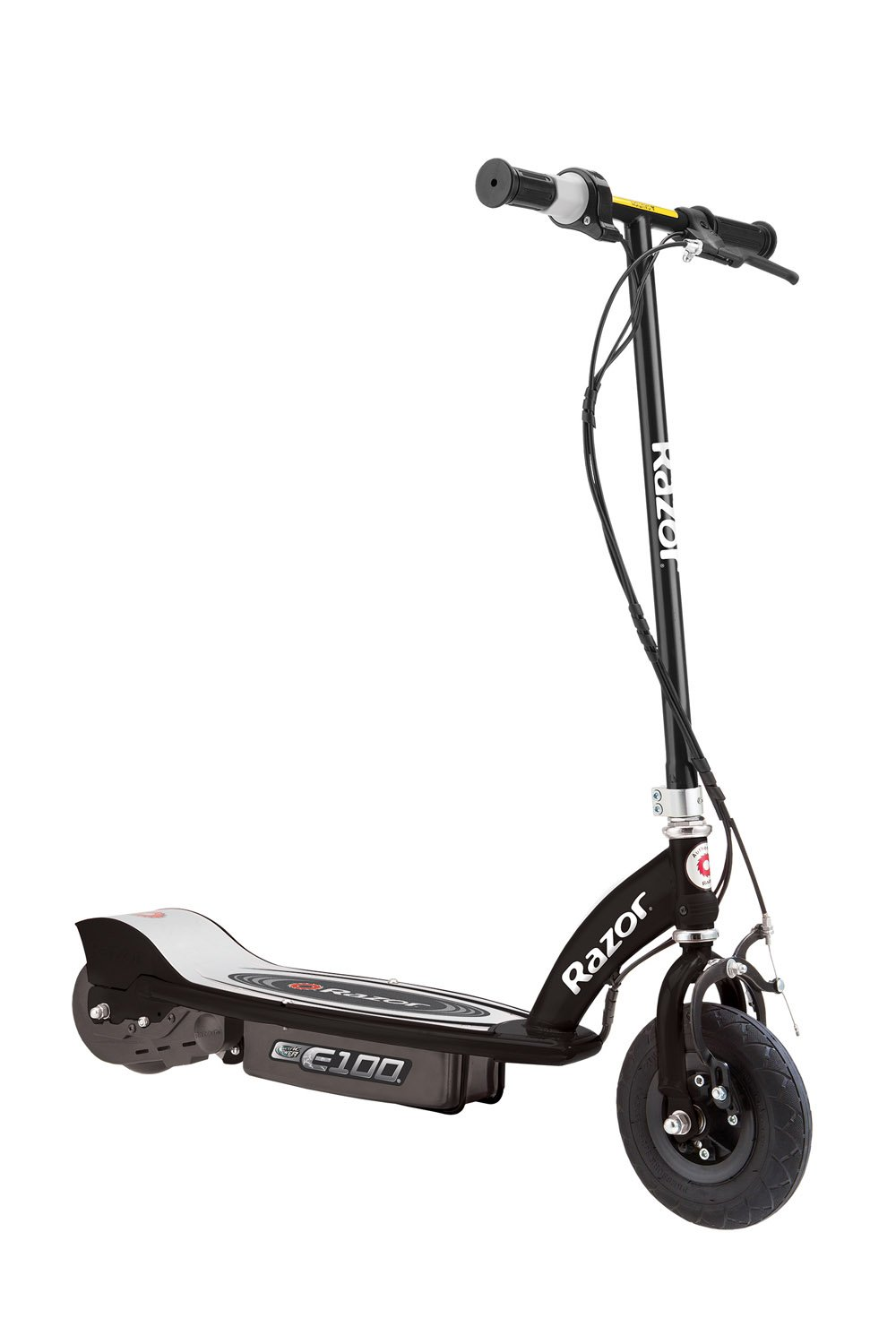 Razor E100 Motorized 24-Volt Electric Rechargeable Ride-On Outdoor Scooter Black