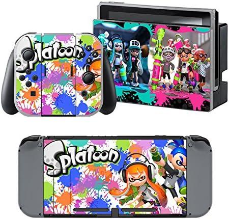 Splatoon - Pegatina Nintendo Switch - 1 Pegatinas de Consola , 2 Pegatinas de Mandos Joy Con, 2 Pegatinas Dock y 1 Pegatina Mando.: Amazon.es: Videojuegos