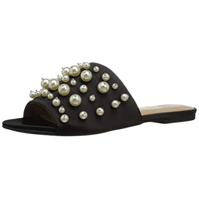 Amazon Brand - The Fix Women's Faris Flat Slide Sandal with Pearls: Clothing