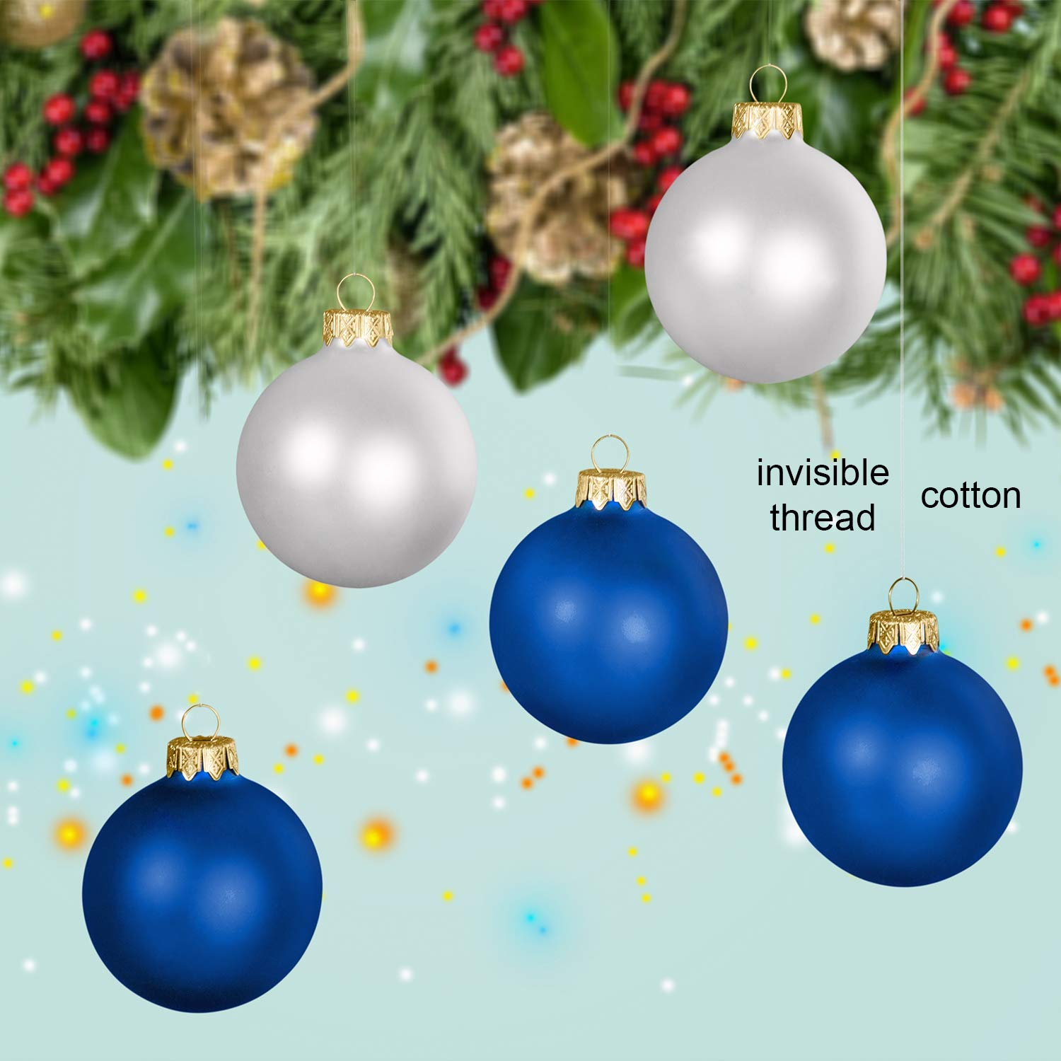 Clear Beading Thread with Bead Needle Sew Hobby 0.45mm Bracelet Making Tatuo 200 m Clear Nylon Invisible Thread String for Hanging Christmas Ornaments