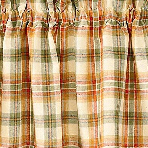 Plaid Curtains Green (Park Designs Lemon Pepper Tiers, 72 x 36