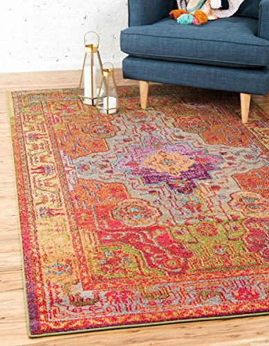 Unique Loom Vita Collection Traditional Over-Dyed Vintage Multi Area Rug (2' x 3')