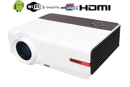 Amazon.com: WiFi projector FULL HD 1080P Home Theater 5000 ...