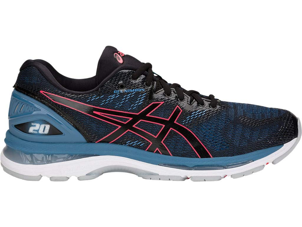 ASICS Women's Gel-Nimbus 20 Running Shoes, 6M, Black/Azure by ASICS