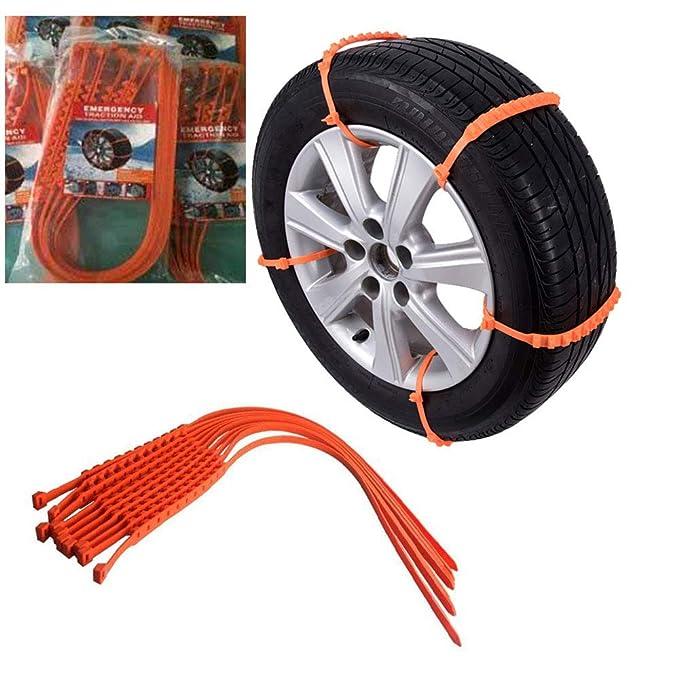 Cadenas antideslizantes para neumáticos para nieve - Cadenas portátiles antideslizantes para neumáticos para automóviles, camionetas y camiones livianos ...