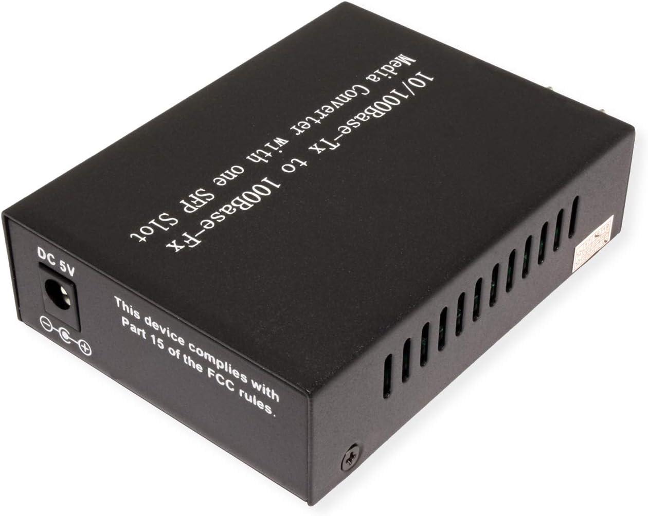 LC Mini-GBIC VALUE Fast Ethernet Konverter Netzwerk Medienkonverter zur Umsetzung eines Fast Ethernet TP-Port auf Multimode Glasfaser inkl RJ-45