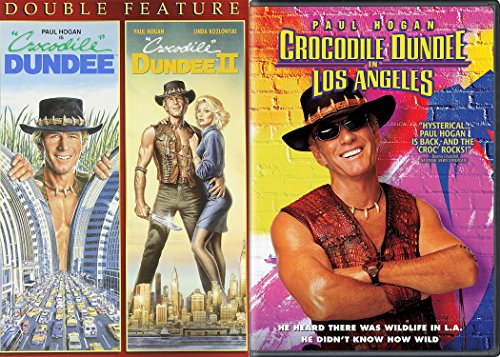Paul Hogan is Crocodile Dundee 3-Movie Comedy Set - Crocodile Dundee II & Crocodile Dundee in Los Angeles 3 Triple DVD Bundle