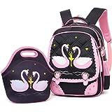 Mloovnemo Cute Swan Ballet Dancing Girl Diamond Sequins Waterproof Princess School Backpack Set Girls Book Bag (Large…