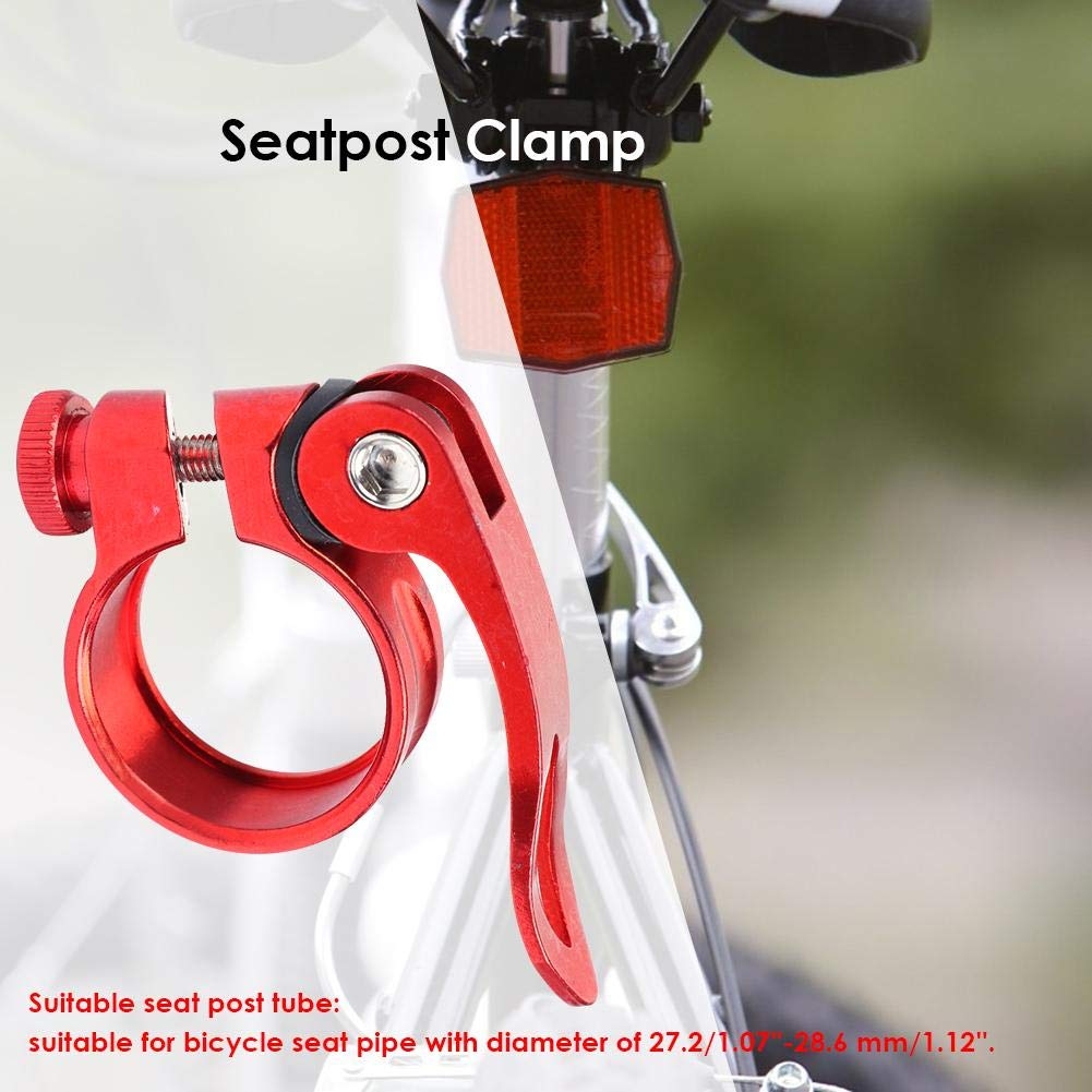 31.8mm Seatpost Clamp Quick Release MTB Bike Seat Post Tube Clip Black